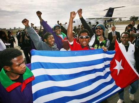 Papuans demonstrate