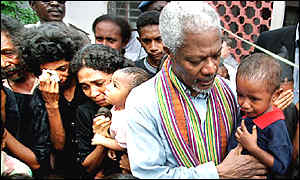 Kofi Annan on February visit to East Timor