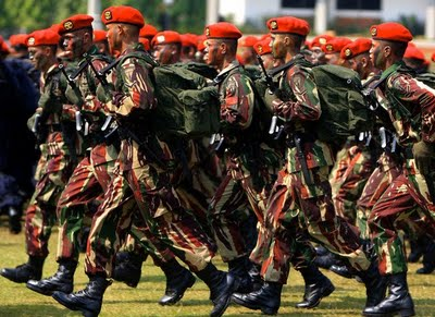 Kopassus troops