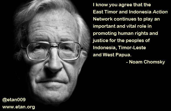 Read a message to you from Noam Chomsky