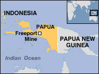 West Papua map