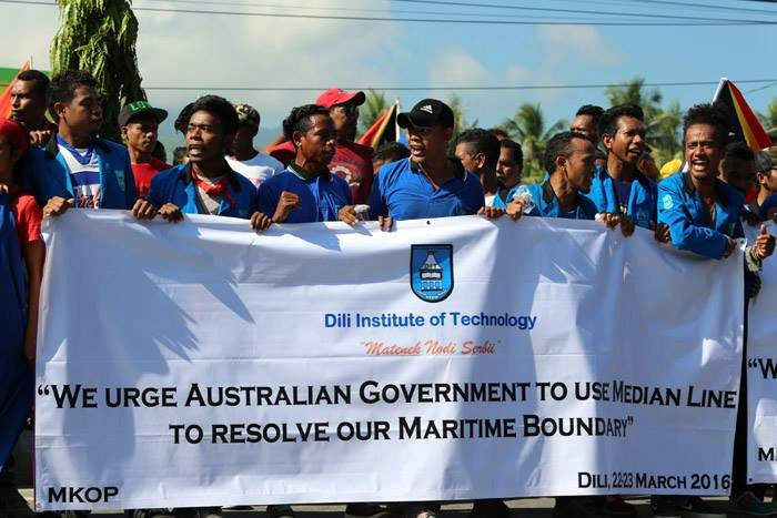 Dili protest March 22.