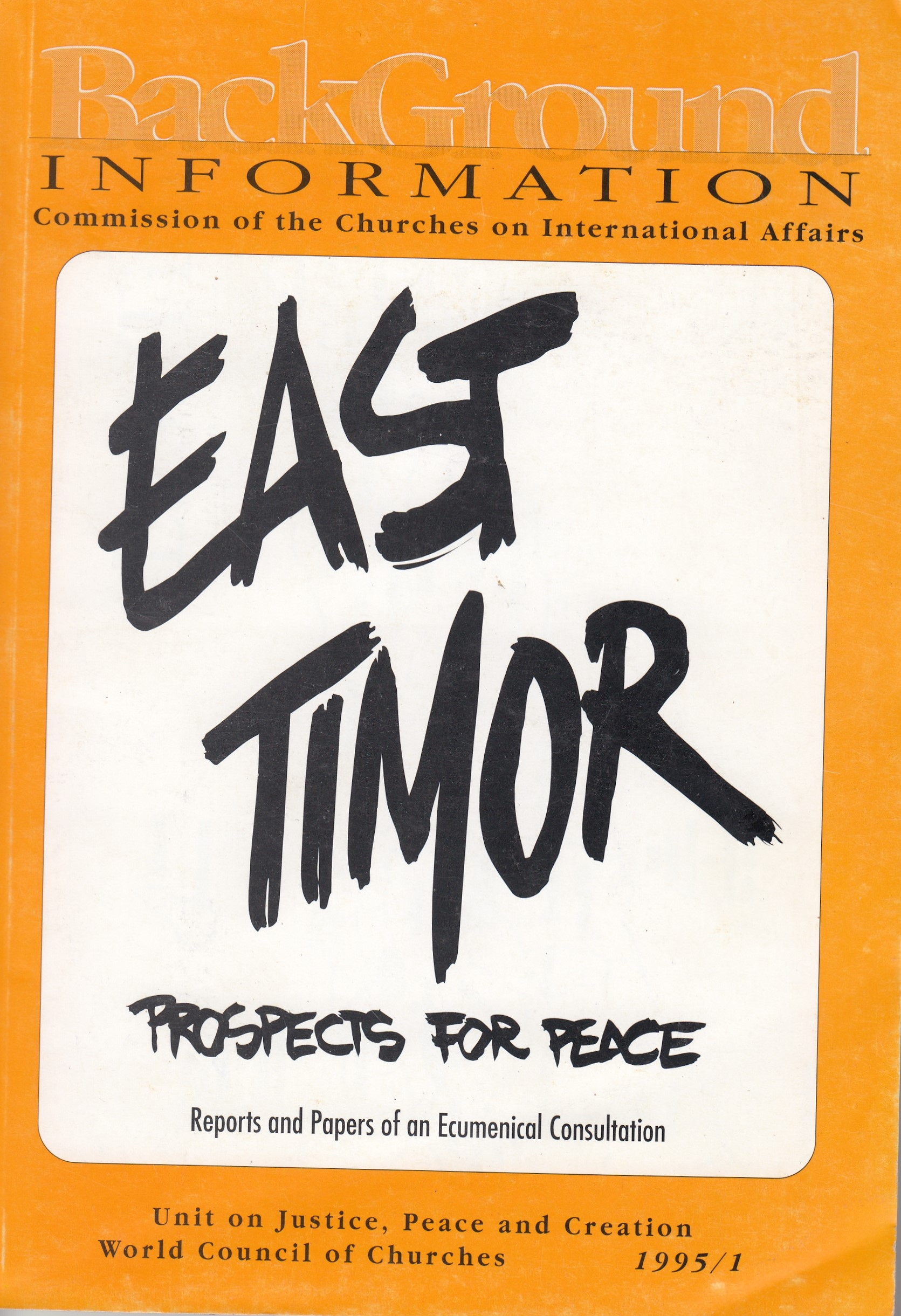 East Timor: Prospects for Peace