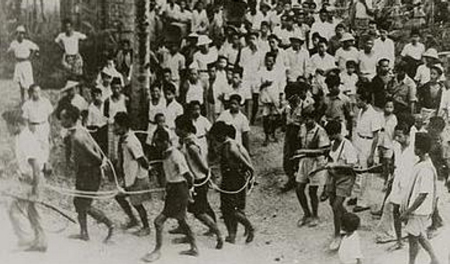 Indonesians being taken for execution.