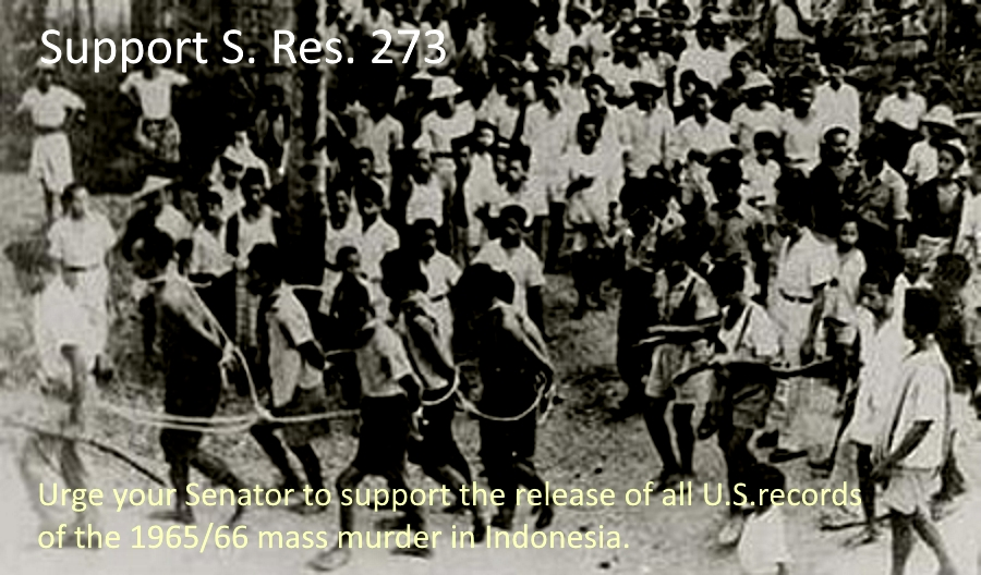 Write your Senators to Support S. Res. 273 on Indonesia
