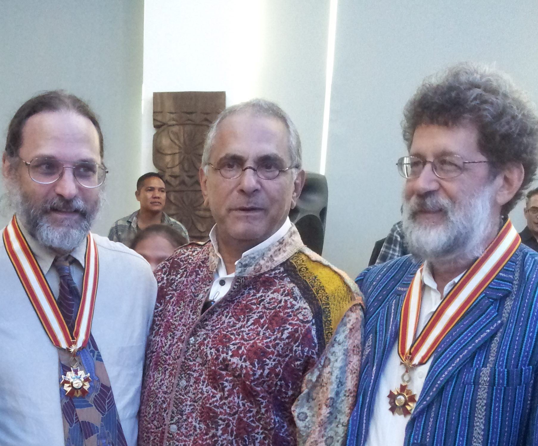 ETAN's John M. Miller and Charles Scheiner with Jose Ramos-Horta