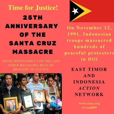 Time for Justice! 25th Anniversary of Santa Cruz massacre